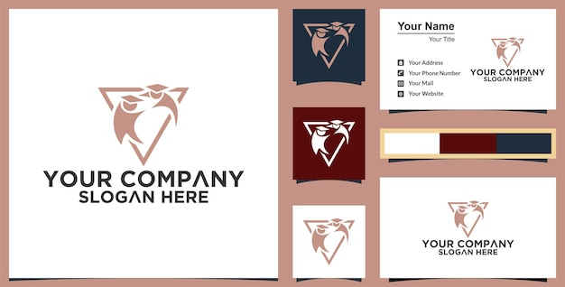 Education logo template vector illustration design and business card