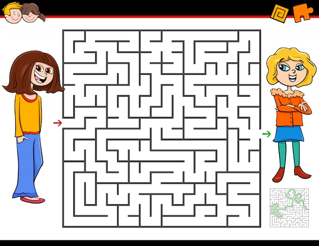 Education maze activity game for children