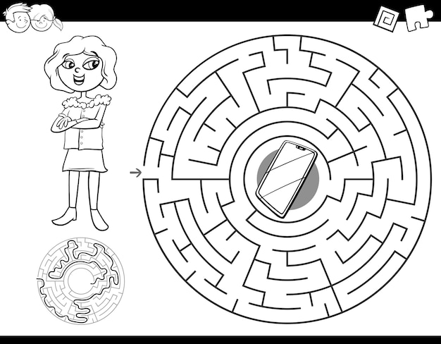 Education maze labyrinth game for kids