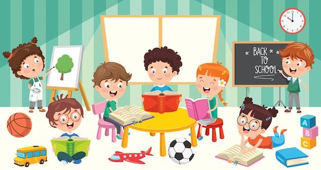 어린 학생들의 교육