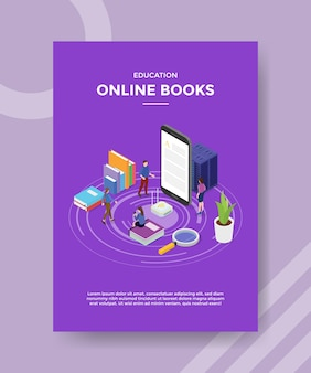 Education online books flyer template