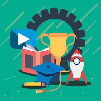 Группа образования онлайн значок