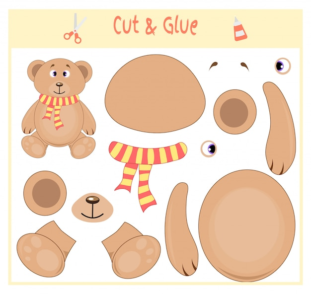 Education paper game for the development of preschool children