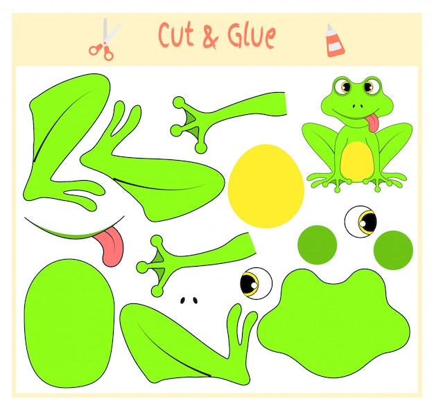 Education paper game for the development of preschool children.