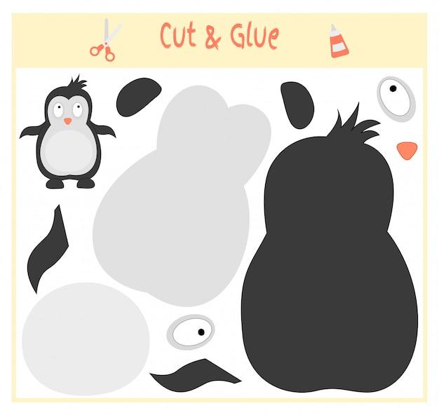 Обучающая бумажная игра для развития дошкольников. отрежьте части изображения и приклейте на бумагу.