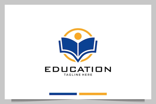 Education people with book logo design