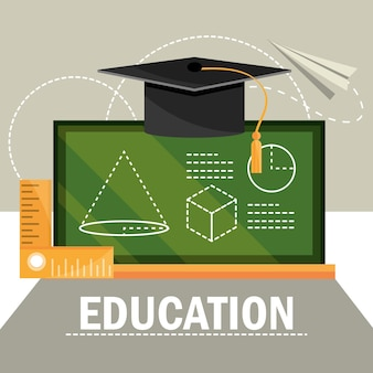 Education school blackboard