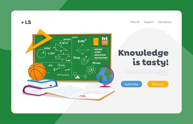 Education and school lesson landing page template