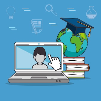 Education school university e-learning concept