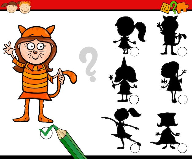 Education silhouettes game cartoon