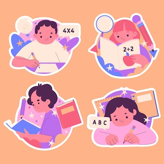 Education stickers pack