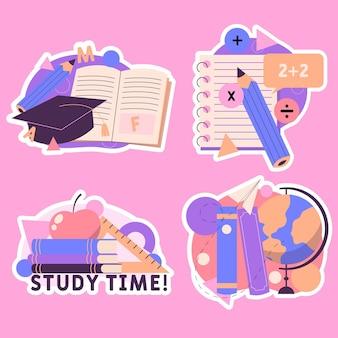 Set di adesivi di educazione