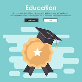 教育、トレーニング、オンラインチュートリアル、eラーニングの概念