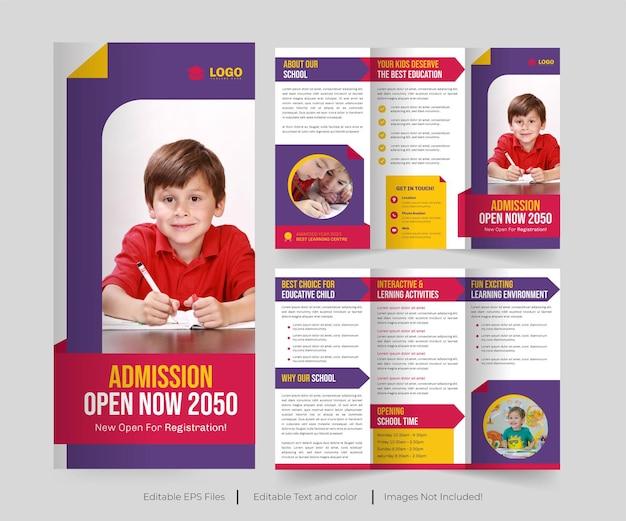 Education trifold brochure or education brochure design