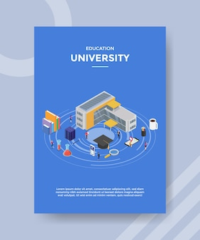 Education university flyer template