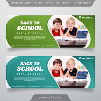 Education web banner template