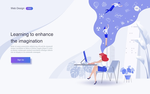 Education for website and landing page template.online education, training and courses, learning,