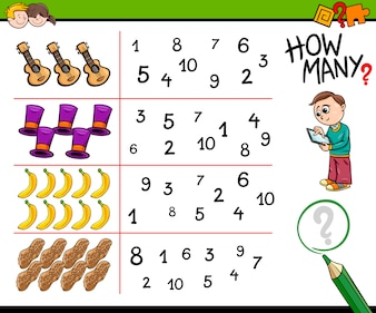 Educational counting activity for kids