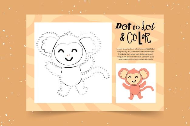 Educational dot to dot worksheet