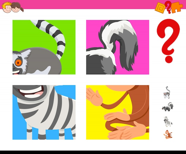 Educational game of guessing animals for kids