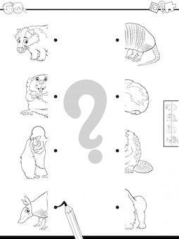 Educational Game of Matching Halves of Animals