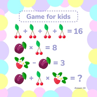 Educational a mathematical game