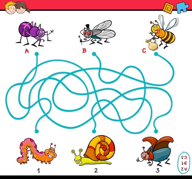 Образовательная задача лабиринта для детей