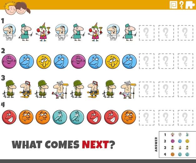 Развивающая игра-выкройка для детей с комическими персонажами