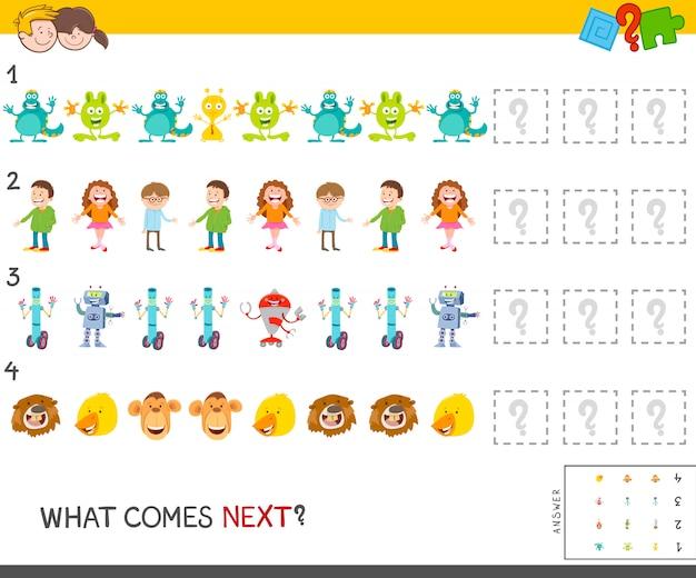 子供向けの教育パターンゲーム