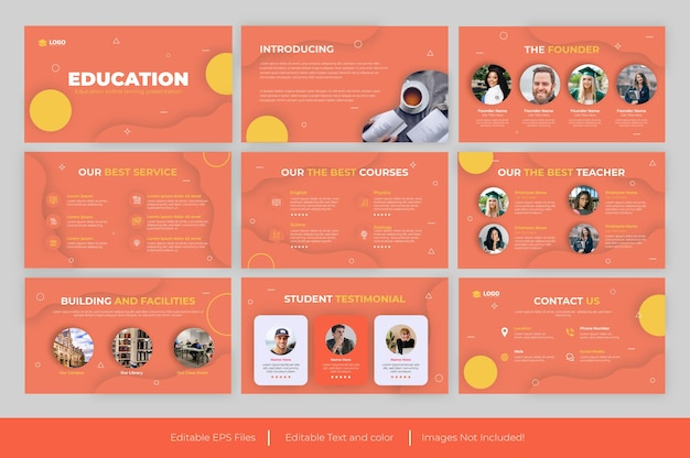 Educational presentation powerpoint template and educational presentation design