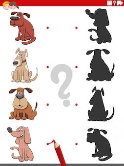 Развивающая игра в тени с персонажами собак