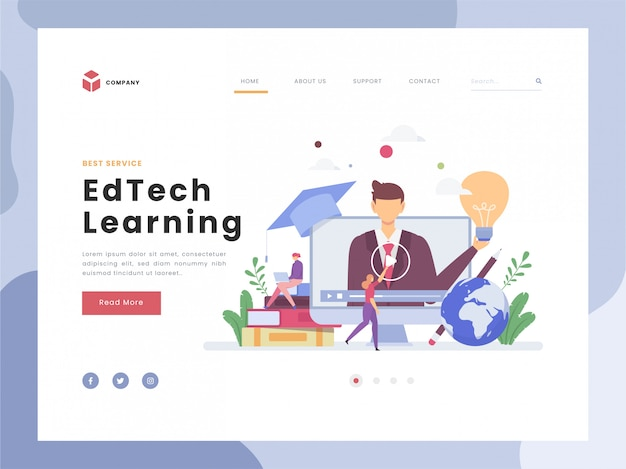 Educational technology, learning, symbolic visualization about study and practice, flat tiny improving skills,knowledge.