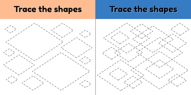 Educational tracing worksheet for kids