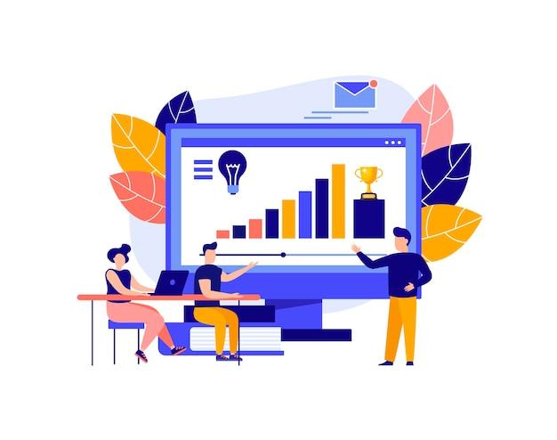 교육 웨비나 디지털 청중 온라인 수업 현대 교육의 개념