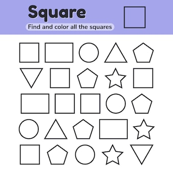 Educational worksheet for kids kindergarten, preschool and school age.