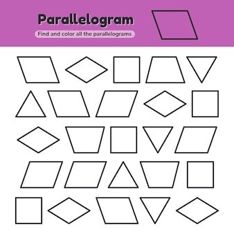 Educational worksheet for kids kindergarten