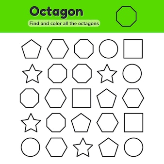 Educational worksheet for kids