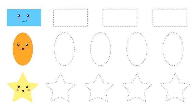 Educational worksheet for preschool kids