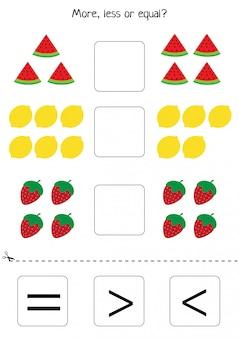 Educational worksheet for preschool kids.