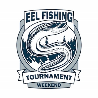 Eel fishing tournament logo