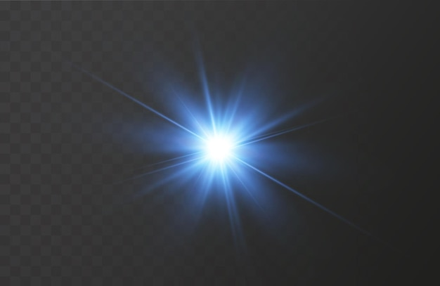The effect of bright glow of blue stars