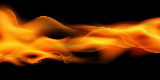 Effect burning red hot sparks realistic fire flames