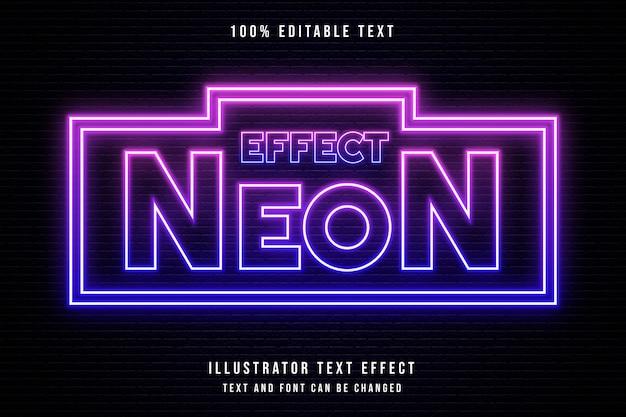 Эффект неона, редактируемый текстовый эффект 3d. неоновый эффект
