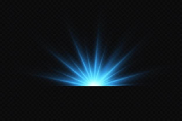 Эффект яркого свечения синих звезд световые частицы