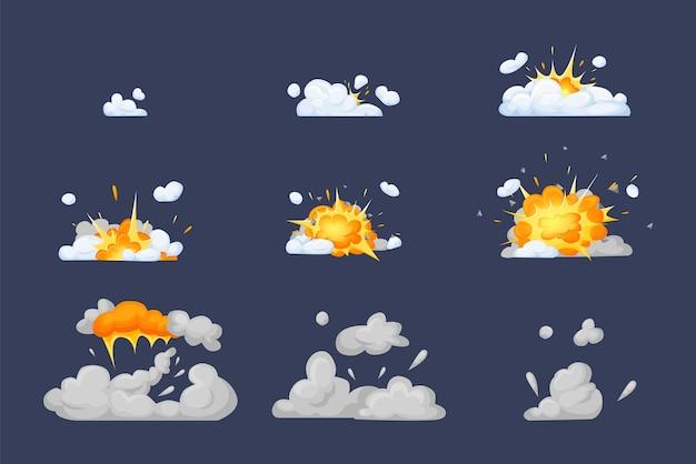 爆発の影響