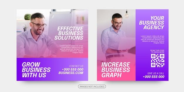 Effective business solutions social media post