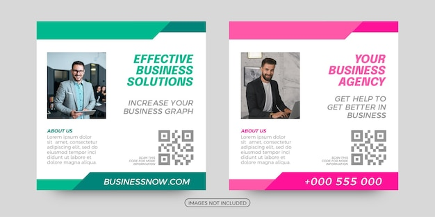 Effective business solutions social media templates