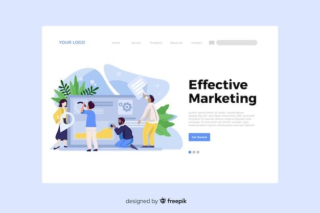 방문 페이지에 대한 효과적인 마케팅 개념