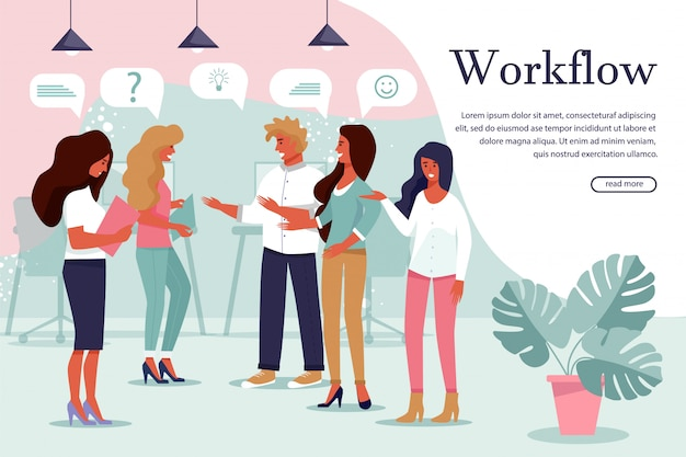 Effective and successful workflow process banner