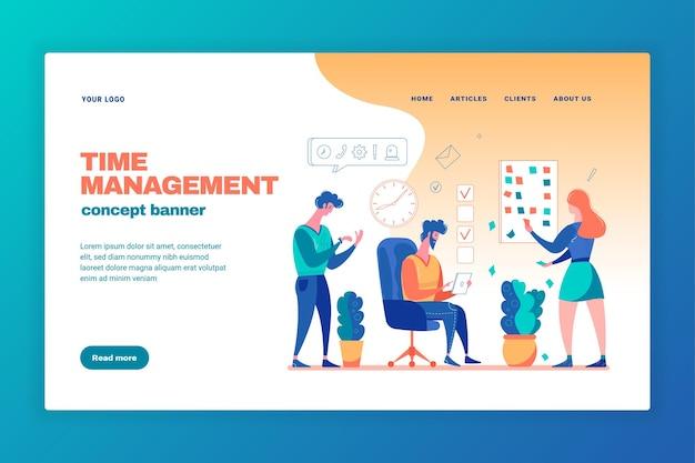 Effective time management banner illustration